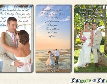 Unique Wedding Canvas Art with Your Vows and First Dance...Tell Your Wedding Story