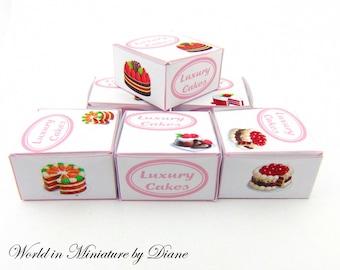 Dollhouse Cake Boxes, Dollhouse Digital Download, PDF Cake Boxes Dollhouse, Dollhouse Cake Boxes Printie, 1:12 Cake Boxes Kit, Bakery Boxes