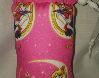 Hand Pipe Sized, Glass Pipe Bag, Glass Pipe Protection, Sailor Moon, Print, Cartoon, Protect Your Glass, Pipe Bag Medium Pouch, Pipe Pouch