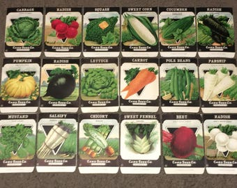 Lot of 18 Vintage Unused 1920s Seed Packs; Card Seed Co., Fredonia NY Warehouse Find