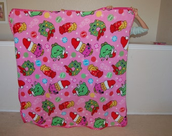 Shopkins Fleece Blanket with Satin Binding