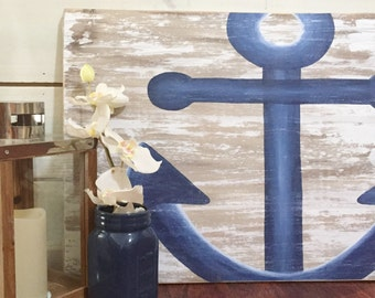 MADE TO ORDER whitewashed nautical wood signs with image of choice