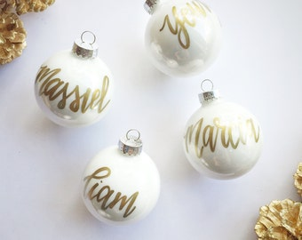 Personalized Name Ornament + Ships Quickly + In time before Christmas! + FLASH SALE ! Handwritten Name Ornament + Lowercase Writing