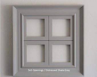 4 Opening Window Collage Frame / Empire Style / Several Sizes and Colors