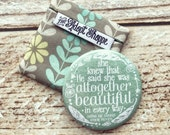 she knew that He said she was altogether beautiful in every way (Song of Songs 4:7) pocket compact mirror