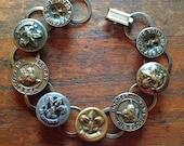 Vintage Boy Scout Button Bracelet