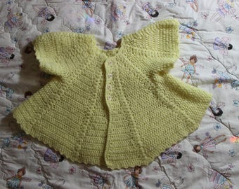 Sz 3-6 Mos Kids Infant Babies Yellow Perforated Knit Top