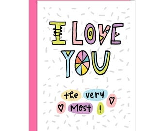 """Valentines Day card, Sappy, Romantic, 5 1/2 x 4 1/2  notecard, (pink black and white) """"Bee Mine."""""""