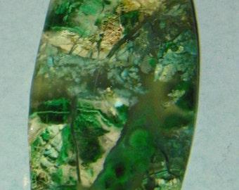 Silica Chrysocolla Paisley Cut  Designer Cabochon (F-079)