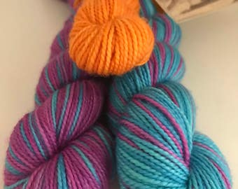 Life is Too Short Polar Opposites with Contrast... Canon Hand Dyes Charles Self Striping Superwash Sock Yarn