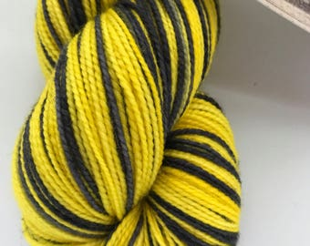 IMPERFECT Hufflepuff Pinstripes Self Striping... Canon Hand Dyes Charles Self Striping Sock Yarn