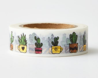New Cactus Foil Tape - card making- scrapbooking-planner stickers - erin condren - Love My Tapes