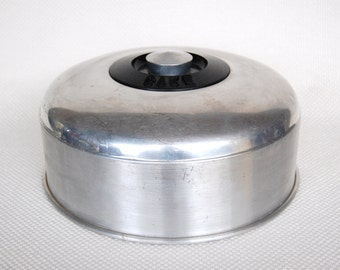 Vintage Kromex Aluminum Cake Plate Cover Kromex Cake Cover for Use on Your Own Plate or Platter