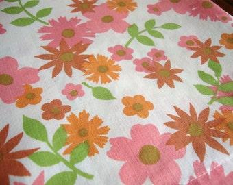 Vintage Flower Power Full Flat Sheet by Perma Prest