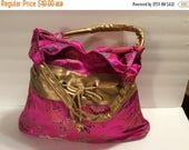 25% Off Sale Brocade  Embroidery and Silk Handbag/Purse