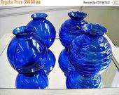 Spring Clearance SaLe Vintage Cobalt Blue Glass Vases