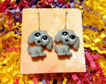 Puppy earrings dog earrings sweet puppies canines Brockus Creations