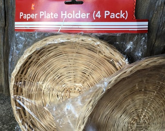 Vintage Picnic Paper Plate Holders