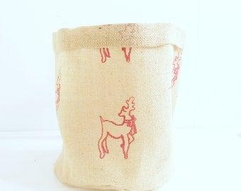 Reindeer Hessian Pot