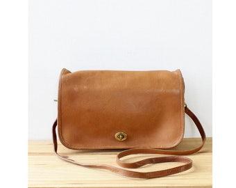 Coach Leather Crossbody Bag • Vintage Coach Bag • 80s Purse • Leather Crossbody Purse • Brown Leather Crossbody • Vintage Coach Purse | B807
