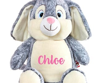 SALE, Personalized Easter Bunny, Easter Bunny, Personalized Stuffed Animal, Bunny, Easter bunny plush, Easter bunny cubbie, Easter cubbie