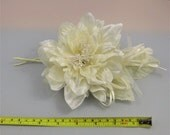 Millinery Flower/leaves/tassel bundle - Ivory