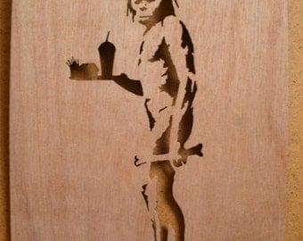Banksy McDonalds Caveman Stencil