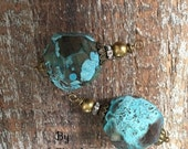 SALE NEW Earthy style Large Chunky Turquoise nugget beads dangle drops 18mm gemstones
