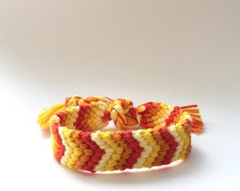 Thick chevron friendship bracelet