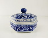 Blue & White Chinoiserie Dish with lid