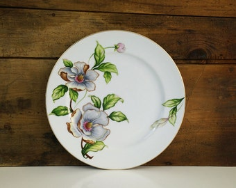 Vintage Dogwood 10 Inch Dinner Plate Roselyn China