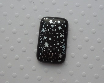 Dichroic Fused Glass Cabochon - Gem Stone - Cabochon Cab - Bead Supply- Glass Bead - Wire  - Jewelry Making - Stained Glass 5318