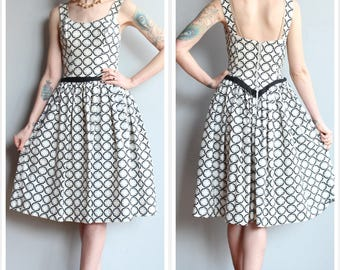 1950s Dress // Circle the Sun Cole of California Dress // vintage 50s dress