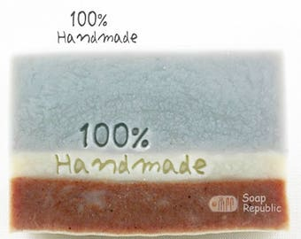 SoapRepublic 100% Handmade  Acrylic Soap Stamp / Cookie Stamp