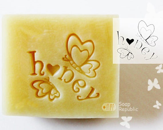 FREE SHIPPING! SoapRepublic Honey butterfly Acrylic Soap Stamp / Cookie Stamp / Clay Stamp