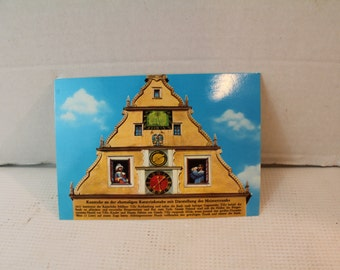 Rothenburg ob der tauber thirty years war clock postcard ephemera craft supply collectible