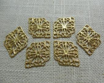 Diamond Brass Filigree