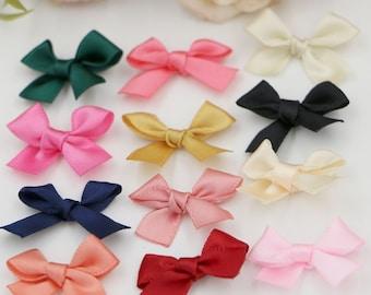 50 pcs Handmade Ribbon Bows ( 9 x 7 cm ) Girls Hair Clips Hairbands Embellishment
