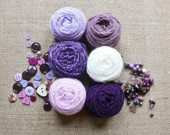 Crochet Kit to make Lavender Mini Pennant Bunting