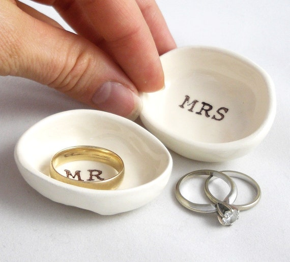 WEDDING RING HOLDER gift for bride & groom gift for couple wedding ...