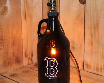 Boston Red Sox Baseball Beer Growler Lamp with Night Light