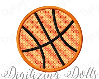 Basketball Applique Machine Embroidery Design 2x2 3x3 4x4 5x5 Sports Ball INSTANT DOWNLOAD
