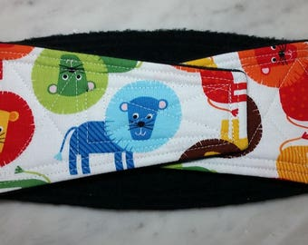 Belly Band Waist 15.50 x Width 4.25 inches Male Dog Belly Band Wrap Diaper Belt by SewDog 3 Layers Quilted Padded Wrap #042 LIONS