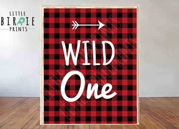 Lumberjack First Birthday Party sign Lumberjack Wild One