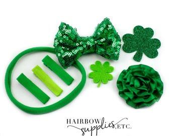 St. Patrick's Day Hair Bows, Felt Shamrocks, St. Pattys Day Baby, Shamrock Baby, Shamrock Bow, St. Patrick's Day Baby, St. Patrick's Day Bow