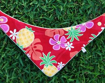 BANDANA BIB * Organic Bamboo/Cotton * PINEAPPLE * Baby Shower gift * Newborn gift