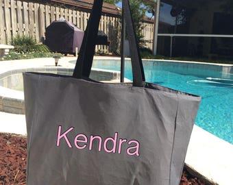 Personalized Bridesmaid Shoulder Tote Bag