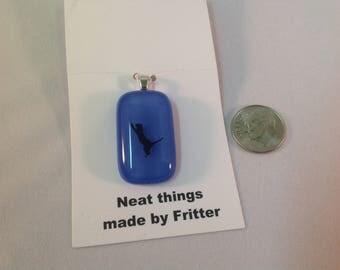 Fused Glass Cat pendant, C12