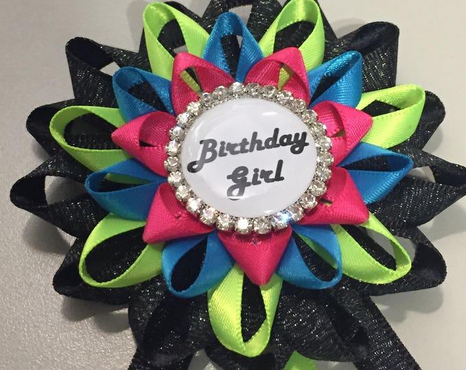 disco birthday pin