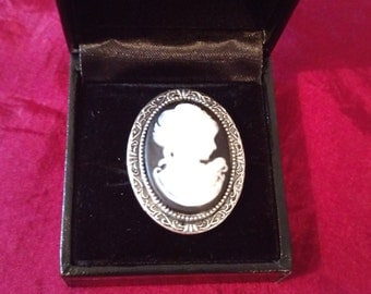 My Fair Lady Cameo Silver Ring adjustable